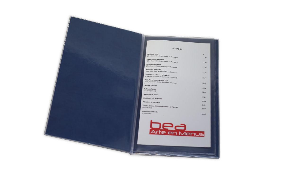 porta menu para restaurantes