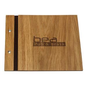 Menus de madera personalizados